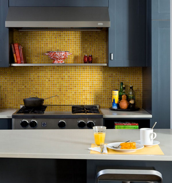 Фартук,Golden mosaic in the kitchen