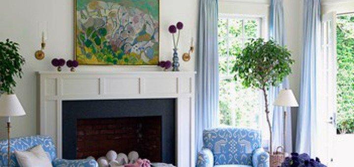 Голубой интерьер в доме