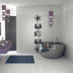 Варианты керамических узоров для пола маленькой ванной комнаты