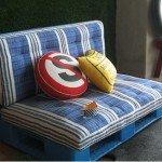 Детский диван из поддонов