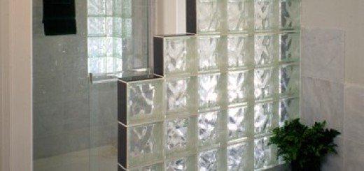 Cтены из стеклоблоков