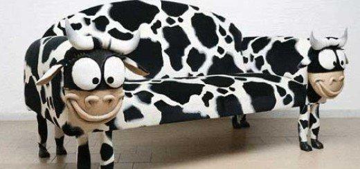 Дизайн мягкой мебели., коровы