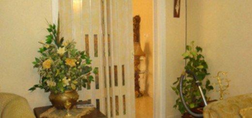 Дверь-гармошка экономит место