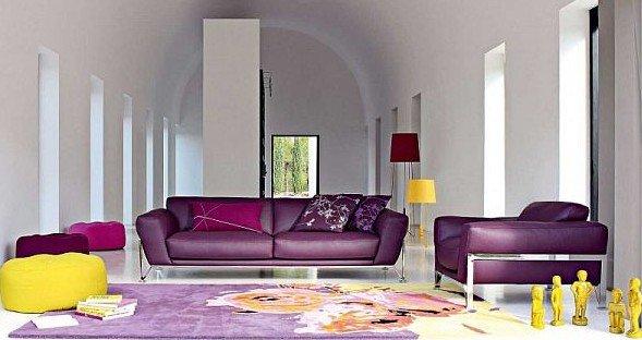 Модный диван для элегантной гостиной