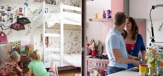 Яркий интерьер для счастливой семьи