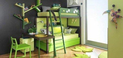 Экономия места и игривая детская двухъярусная кровать