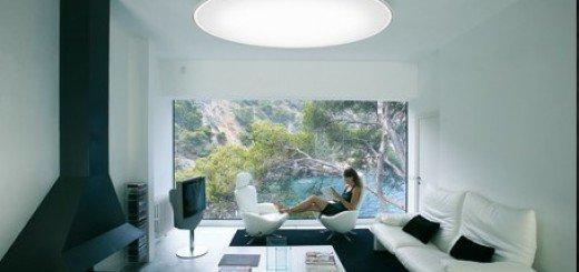 Низкий потолок создает большое помещение