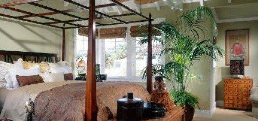 Тропический дизайн в спальне