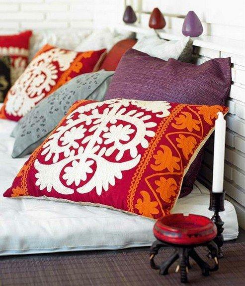 Диванные подушки, как часть интерьера