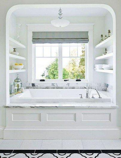Монохроматический цвет ванной