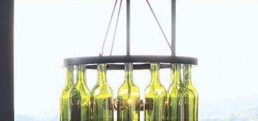 Аутентичная люстра из бутылки вина