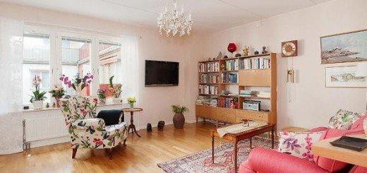 Цветочный интерьер квартиры в Стокгольме