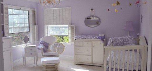Монохроматический цвет детской комнаты