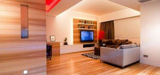 Деревянные панели квартиры в Гонконге