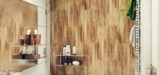Стильный интерьер маленькой ванной комнаты