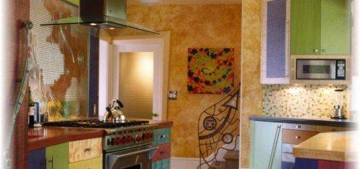 Уникальное сочетание цветов на кухне
