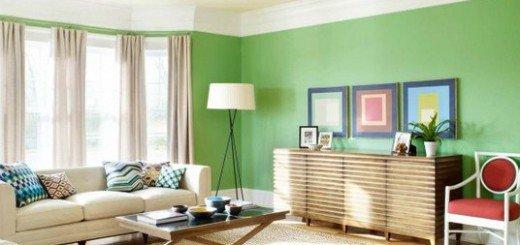 Живой цвет гостиной