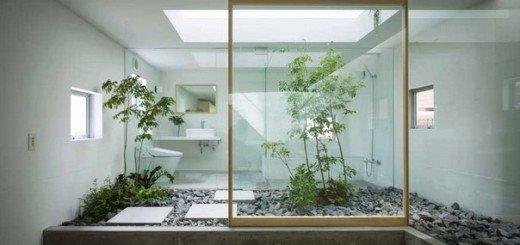 Ванная в японском стиле, просто и гармонично