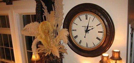 Большие часы - украшение для всех стилей