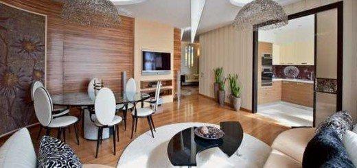 Креативный дизайн интерьера квартиры навеянный одуванчиком