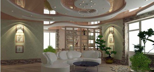 Тканевый потолок удобство и украшение