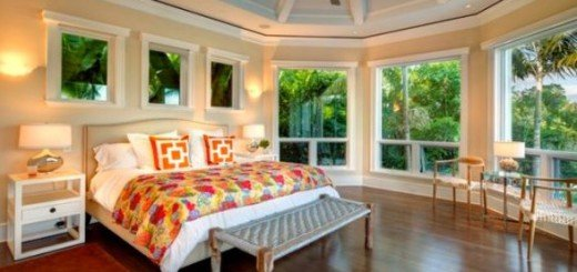 Тропический дизайн спальной комнаты