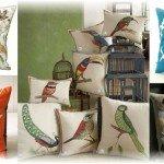 Подушки с птицами