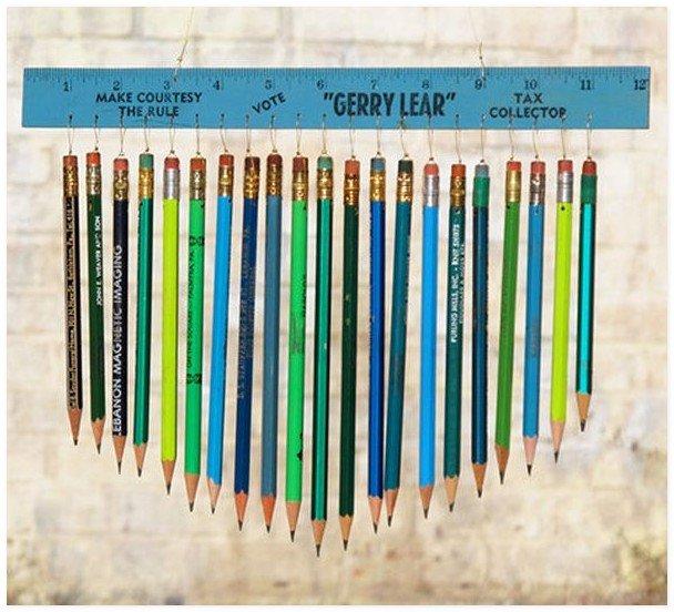 Музыка ветра из карандашей