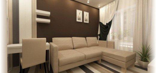 Угловой диван в маленькой квартире