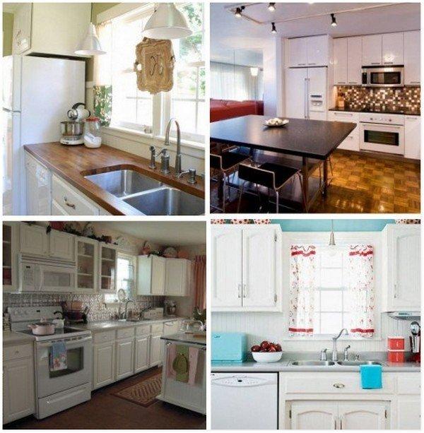Белая техника на стильной кухне