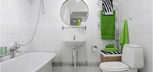 Белая ванная комната, свежий взгляд