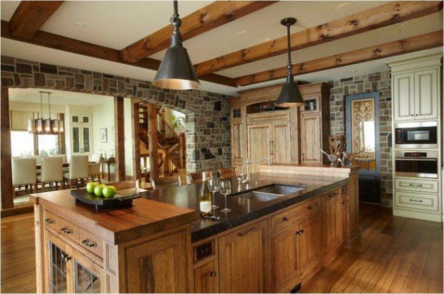 Фото кухни из дерева современный стиль