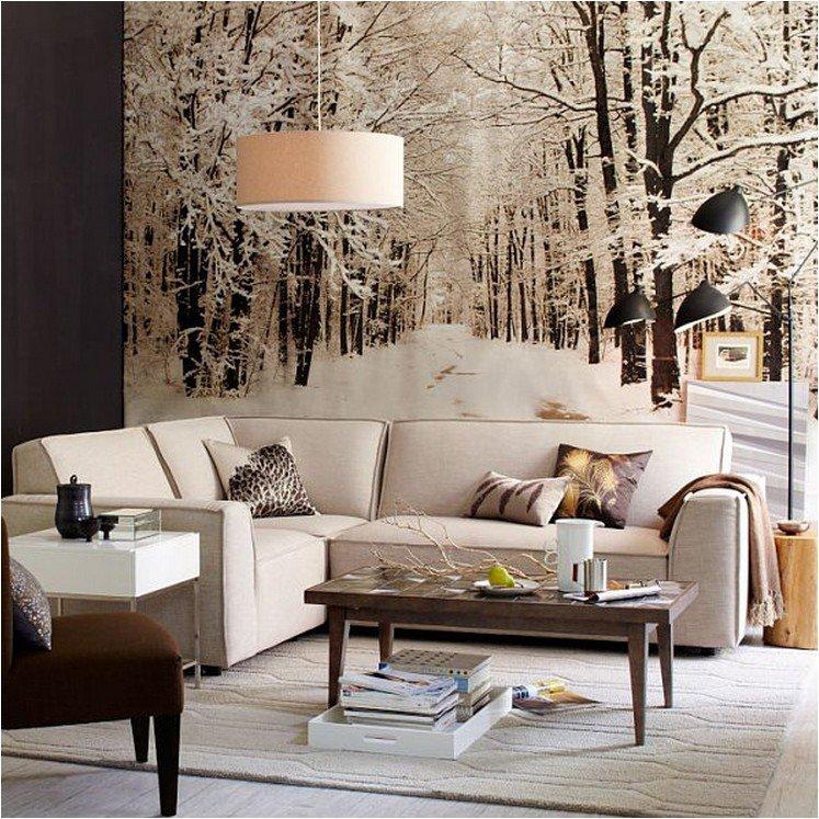 Фотообои в зимнем декоре