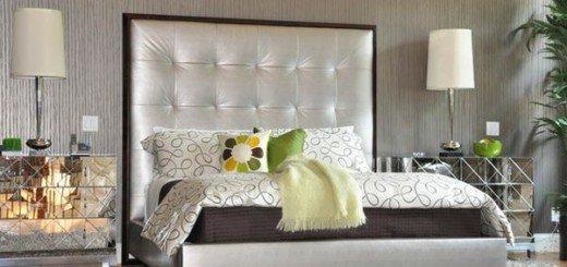 Более сложные конструкции могут быть использованы в минималистском спальных декоров