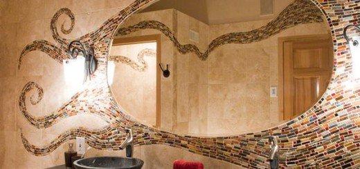 Мозаичная плитка в ванной и на кухне