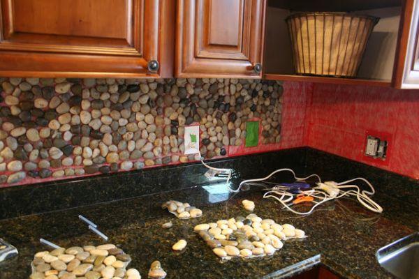 Поделки из камней -Кухонный фартук