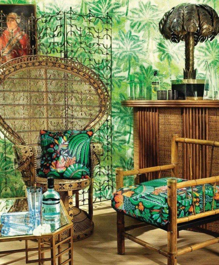 Зелень в тропическом стиле