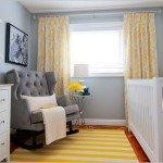 желтые шторы в детской