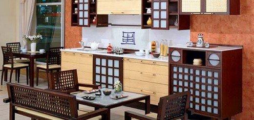 Спокойная кухня в японском стиле