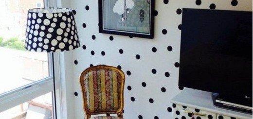 Горох в интерьере домашнего офиса, соответсвующие элементы