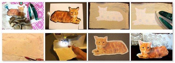 Как сделать подушку кот