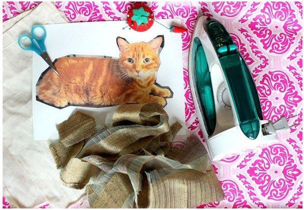 Подушка кот, что нужно
