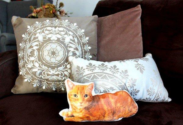 Подушка кот, как сделать оригинальную подушку
