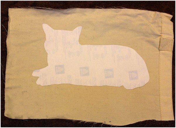 Подушка кот, шаг 2