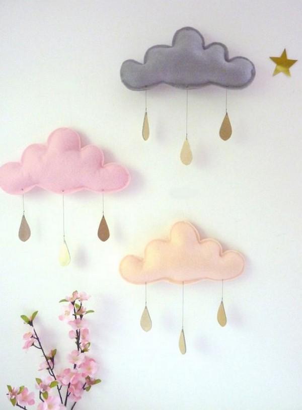 Oblaka-v-interere-na-stenah Как украсить стену Экономно! 30 идей