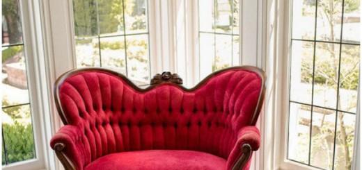 Викторианская мебель для дома яркий диван