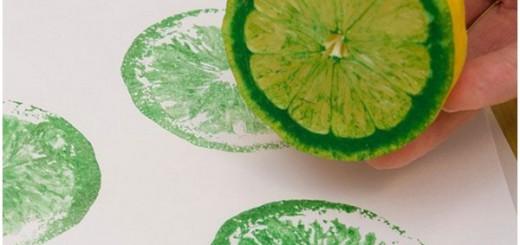 Декоративная роспись стен лимоном
