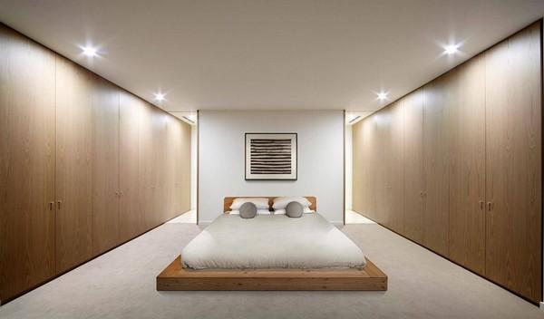 Минимализм спальни освещение