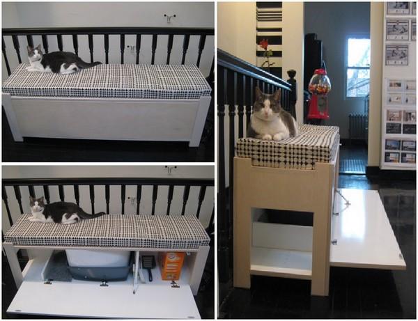 Оригинальные идеи как спрятать кошачий туалет от IKEА