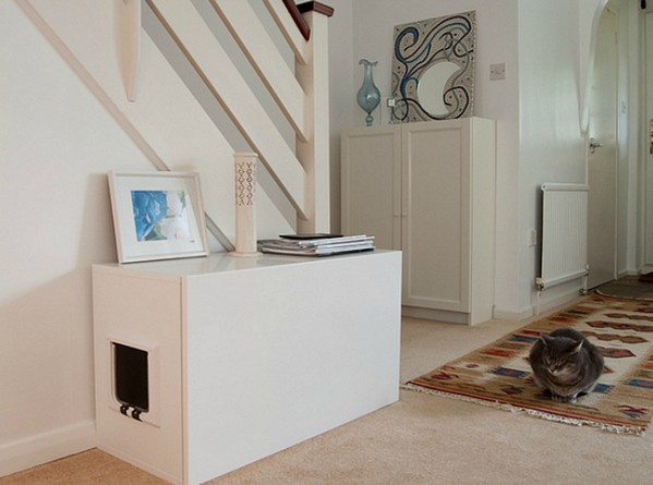 Оригинальные идеи как спрятать кошачий туалет от IKEI